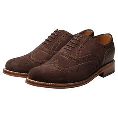 Grenson Brown Suede Stanley Brogues. £185