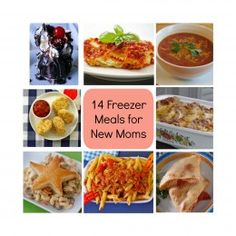 Make double- one for us and one for taking a meal  BabyZone: 14 Freezer Meals For New Moms