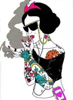 Snow White With Tattoos And Smoking