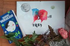 Original painting / 1Q84 - Haruki Murakami / Tengo, Aomame / Two moons / fantastic japan art book #murakami #1Q84 #tengo #Aomame