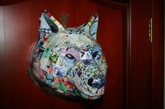 Wolf Head Faux Taxidermy Animal Head paper by PaperTrophyHeads