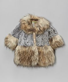 Look at this Brown Princess Faux Fur Coat - Toddler & Girls on #zulily today!