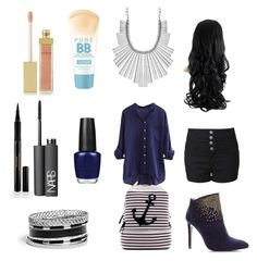 """Navy blue school"" by izzybsparkle ❤ liked on Polyvore"