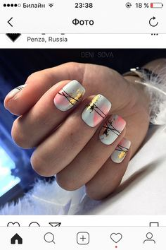 nail art summer simple #easysummernails Fabulous Nails, Perfect Nails, Gorgeous Nails, Stylish Nails, Trendy Nails, Cute Acrylic Nails, Cute Nails, Faux Ongles Gel, Nagellack Design