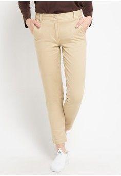 Wanita Pakaian Bawahan Celana Legging Chino Pants Pop U