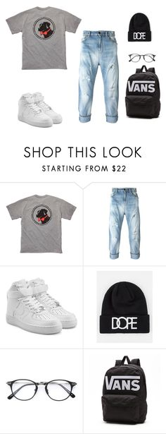 """""""My kinda guy"""" by summercameron1 ❤ liked on Polyvore featuring Southern Proper, NIKE, Dope and Vans"""
