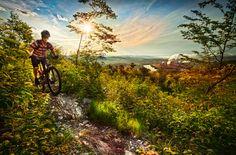 Mountain bike in New Brunswick Edmundston trail New Brunswick, Bike Trails, New Life, Outdoor Activities, East Coast, Mountain Biking, National Parks, Canada, Mountains
