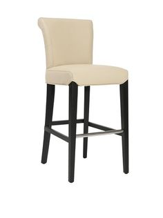 Safavieh Mercer Collection Thomas Leather Barstool, Cream by Safavieh. $269.00. The black finish and cream bicast leather upholstery of this barstool will give your home a chic accent. No assembly required, this barstool measures 19 inches wide by 24 inches deep by 40 inches tall and a seat height of 30 inches. This barstool features a seat height of 30 inches. Perfect for a living room, family room, den, library or study. Crafted of beechwood and bicast leather. Cla...