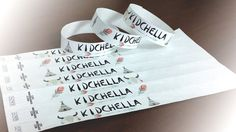 KIDCHELLA  Custom Printed Tyvek wristbands in by CFCwristbands