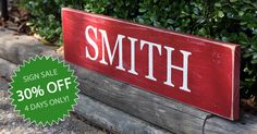 4 DAYS ONLY: Biggest Sale this Year! 30% off all painted wood signs | Signs by Andrea | 11/28/14 to 12/1/14