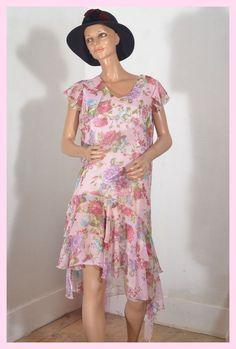 Robe rose voile TILT   taille 44 ref  011742