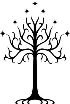 Lord Of The Rings Tree Of Gondor Vinyl Decal Sticker Herr der Ringe Baum von Gondor Vinyl Aufkleber Aufkleber BallzBeatz. Gondor Tree, Tree Of Gondor Tattoo, White Tree Of Gondor, Tolkien Tattoo, Lotr Tattoo, Gandalf, Legolas, Baum Von Gondor, Symbole Tattoo