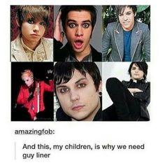 Ryan Ross, Brendon Urie, Pete Wentz, Patrick Stump, Frank Iero, and Gerard Way