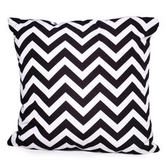 Black Chevron Cushion Cover