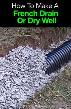 Diy how to install a drain pipe from the gutter of your for Good drainage system