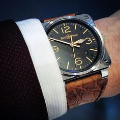 Bell&Ross - BR 03-92 GOLDEN HERITAGE. When modern techniques are mixed with retro design.
