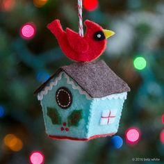 Birdhouse Ornament PDF PATTERN by betzwhite on Etsy