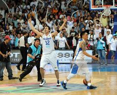 Larry Alexander Fonacier of the Philippines celebrates after their team defeated South Korea during their men's Asia championship basketball game in Manila on August Philippines won Get premium, high resolution news photos at Getty Images Larry, Philippines, Basketball Court, Korea, Celebrities, Sports, Age, Hs Sports, Celebs