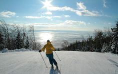 Le Massif, twenty minutes north of Mont Sainte Anne, makes my top 10 Eastern ski resorts list