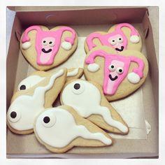 Uterus & sperm cookies #ultrasound