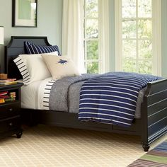 Kendall Panel Twin Sized Bed Black