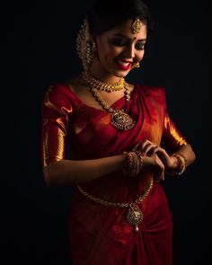 Pattu Saree Blouse Designs To Rock Your Desi Bridal Look - Tikli Saree Photoshoot, Bridal Photoshoot, Bridal Shoot, Photoshoot Images, Wedding Saree Blouse, Bridal Sarees, Bridal Portrait Poses, Saree Poses, Pattu Saree Blouse Designs