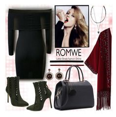 """www.romwe.com-XXVII-8"" by ane-twist ❤ liked on Polyvore featuring contest, LittleBlackDress, LBD and Fall2016"