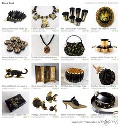 Black and Gold Etsy Finds for you or your home.   https://www.etsy.com/treasury/ODUwNjY0N3wyNzI4NDYxNDcy/black-gold?index=0&atr_uid=