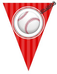 "DIY Baseball Birthday Party Pendant Banner. Design Online Download & Print Immediately. Any Color Scheme - Any Wording. Pendant Banners each panel measures: 8.5"" x 11"" (19.75 CM x 25.85 CM)  Hot Glue or Tape Pendants to your string. Or punch holes and tie together with matching ribbon. Print at home or take to a place like Kinko's, Office Max, Copy Max, Staples or other stores that offer printing services."