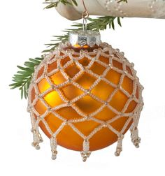 Beaded Netting Holiday Ornament Cover