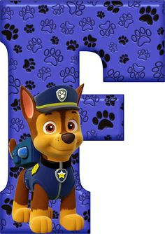 *✿**✿*F*✿**✿*DE ALFABETO DECORATIVO Paw Patrol Party, Paw Patrol Birthday, 4th Birthday, Birthday Parties, Cumple Paw Patrol, Scrapbook Stickers, Letters And Numbers, First Birthdays, Cartoon