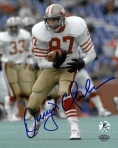 a34f678cc35 Dwight Clark Autographed Photo - 8X10 white jersey run)- Hologram 49ers  Players