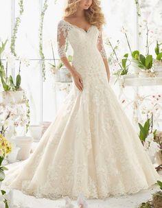 HG495 Wedding Dresses,Custom Wedding Dresses,Lace Wedding Dresses,Half Sleeve Wedding Dresses,Mermaid Wedding Dresses,Long Wedding Dresses,Elegant Wedding Dresses,Luxury Wedding Dresses,White Wedding Dresses,New Fashion Wedding Dresses