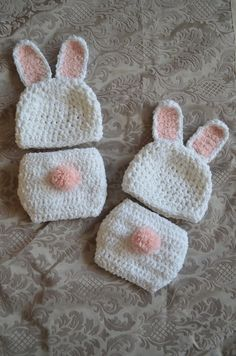 Absolutely gorgeous bunny set   Crochet   Pinterest