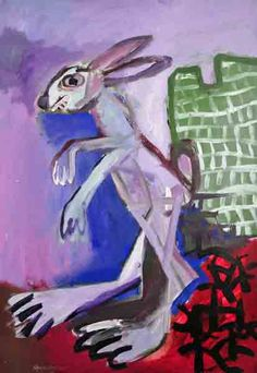 Gary Goodman, Mad Hare acrylic on paper, 20 x 14 inches $280 | free shipping (USA only) for online orders, 404.939.2787, email: info@VINSONart.com