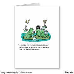 Frog's #Wedding Greeting Card