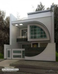 The exterior is the face of the house that everyone will see in the first part. Take a look at the world's most beautiful modern homes and find Unique House Design, Bungalow House Design, House Front Design, Dream House Plans, Modern House Plans, Beautiful Modern Homes, Front Elevation Designs, Facade House, Home Fashion