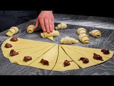 Interzic cumpararea croissantelor din oras. Le fac acasa rapid si foarte usor | SavurosTV - YouTube Bread Recipes, Cake Recipes, Italian Pastries, Sweet Buns, Pastry And Bakery, Cannoli, Cake Cookies, Breakfast Recipes, Food And Drink