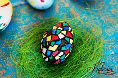 Unique hand decorated easter egg.