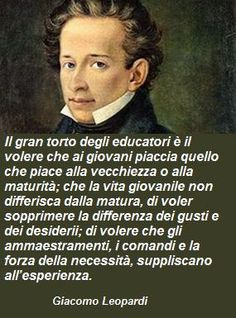 Giacomo Leopardi. Quotes Thoughts, Latin Phrases, Inspirational Phrases, Literature Books, Mindset Quotes, Great Words, Powerful Words, Albert Einstein, Good People