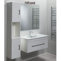 Clearlite cashmere 900mm single drawer semi recessed for Small baths 1100