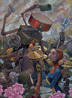 BetweenMirrors.com   Alt Art Gallery: Aaron Jasinski - Inner Child Eye Candy
