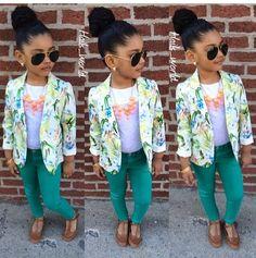 Little fashionista summer classy look