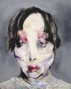 Lita Cabellut , Aki, 200x160, mixed media, 2008.