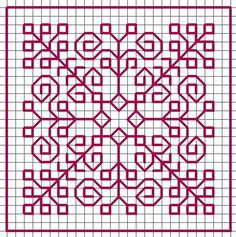 Biscornu Cross Stitch, Cross Stitch Borders, Cross Stitching, Cross Stitch Patterns, Kasuti Embroidery, Cross Stitch Embroidery, Embroidery Patterns, Hand Embroidery, Graph Paper Drawings