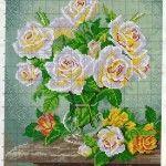 Como hacer bordados de flores y rosas en punto de cruz
