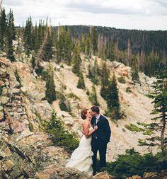 snowy wyoming wedding. incredible photo