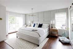 """If anyone deserves a beautiful bedroom it's you. After all, you are the master of your household. And if you have kids, you know that it's equally important to have a relaxing """"adult"""" space for you and your partner to retreat to together after a long day. So how do you achieve that dreamy escape? Jillian Harris has a few ideas. Check out this master bedroom -- complete with a walk-in closet and ensuite -- that she created for Heather & Dan on the most recent episode of L..."""