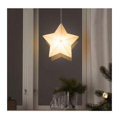 STRÅLA Hängeleuchtenschirm, Stern weiß Stern weiß -