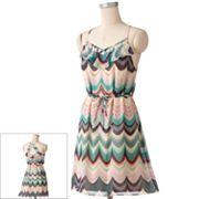 LC Lauren Conrad Waves Chiffon Dress